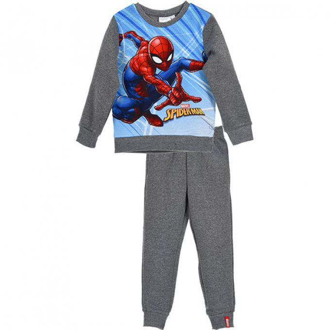 jogging garçon spiderman gris promotion