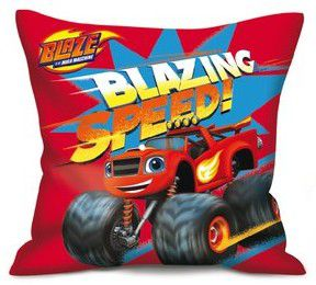 Coussin enfant Blaze & Monster Machines - 35x35cm - Blazing red polyester