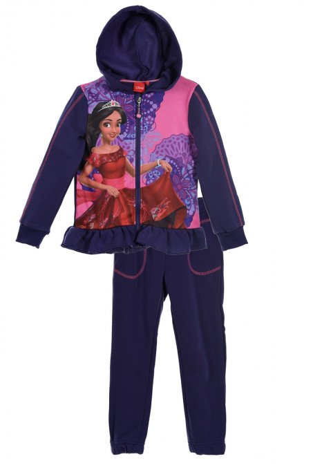 Ensemble de jogging fille Elena d'Avalor by Disney Veste + Pantalon - Violet - Tailles 3 ans à 6 ans