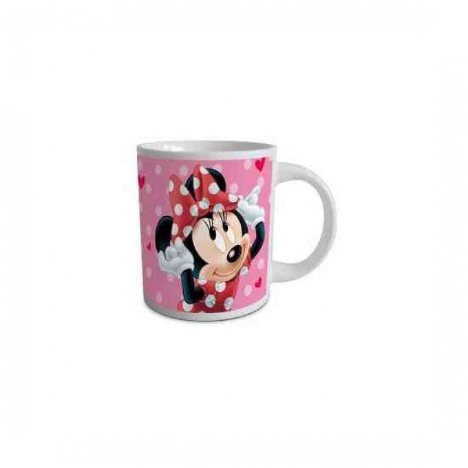 Mug fille Disney Minnie Mouse en céramique - Couleur Rose - 8cm