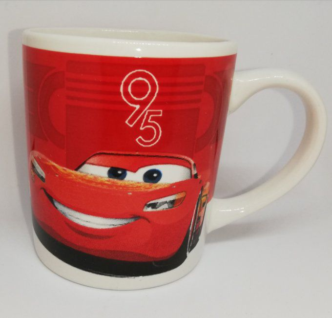 DISNEY CARS - Mug enfant en céramique 8CM Lighting Mc Queen