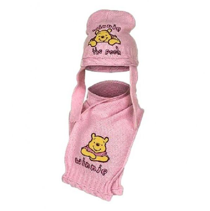 Ensemble Bonnet + Écharpe bébé Winnie Pooh by Disney - Tricolore - Taille 44 à 46 cm