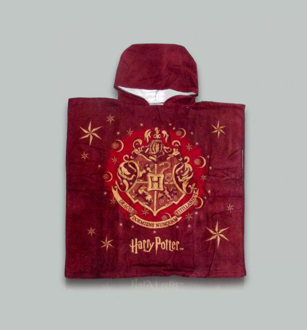 Poncho de bain Harry Potter en velours | 8.90€