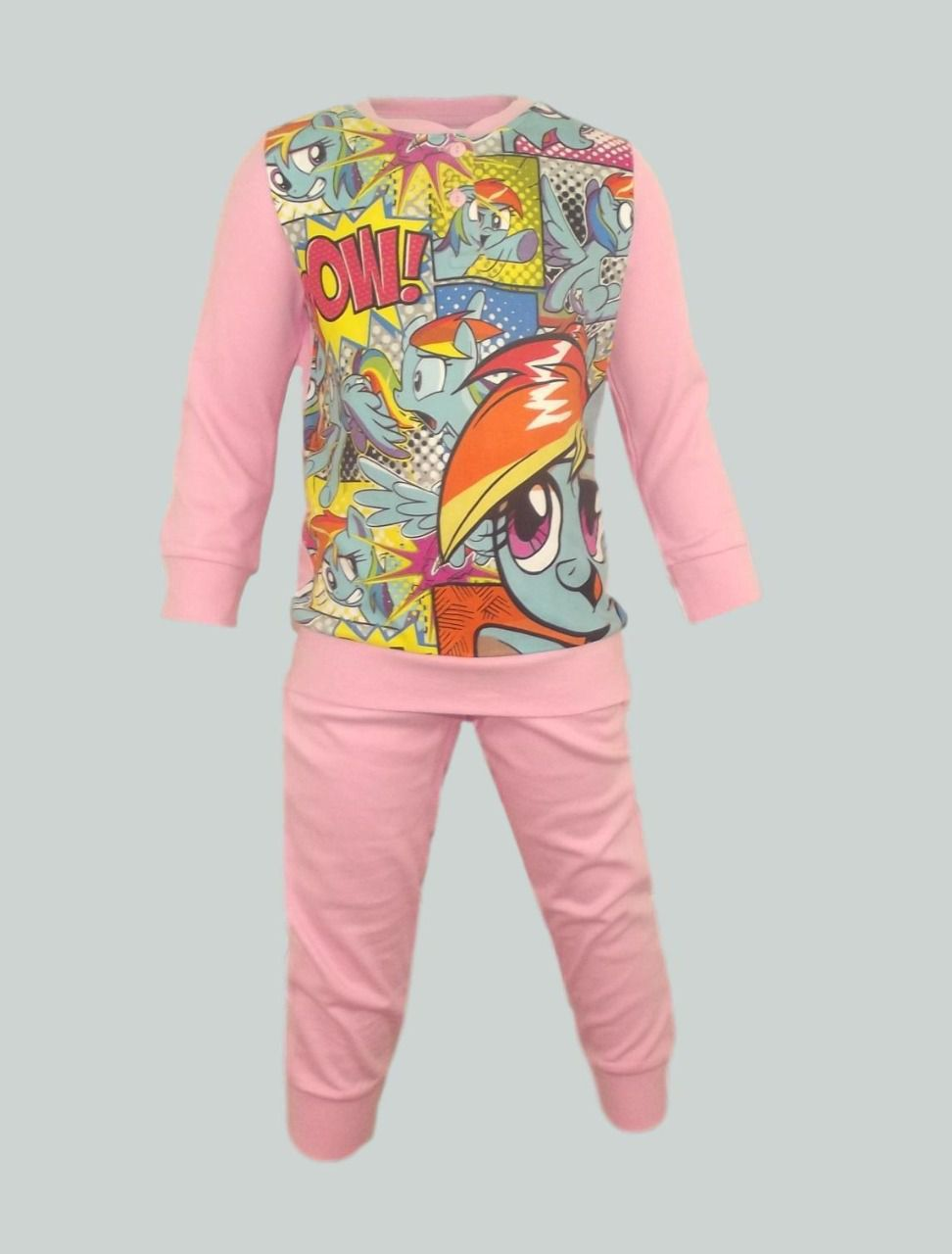 Pyjama enfants fille long 'Little Pony' en coton - Rose - 3 à 8 ans