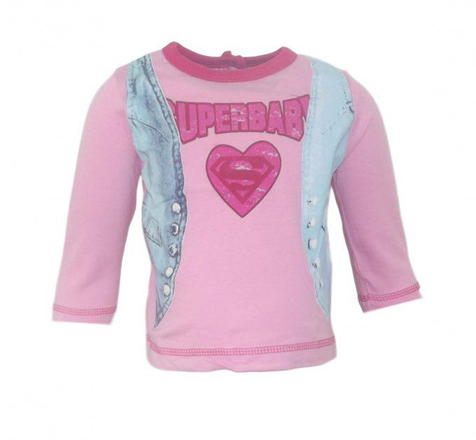Maillot manches longues rose - Super Baby by Warner Bros - du 3 mois au 24 mois