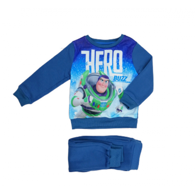 Ensemble Jogging Enfant - Toy Story - Sweat Buzz L'Éclair et Pantalon Disney - Couleur Bleu